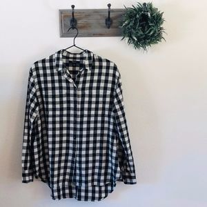 Madewell Black Gingham Button Down M